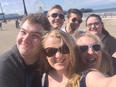my wonderful buddies from musical theatre, weekend away in Blackpool x