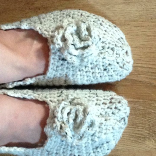 I made myself a pair of slippers